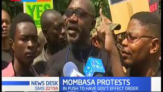 MOMBASA PROTESTS: Activists and transporters protests government's cargo transportation directive.