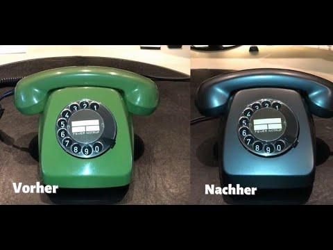Telefon mit Wählscheibe FeTAp 611 – Demontage, Lackierung und Montage