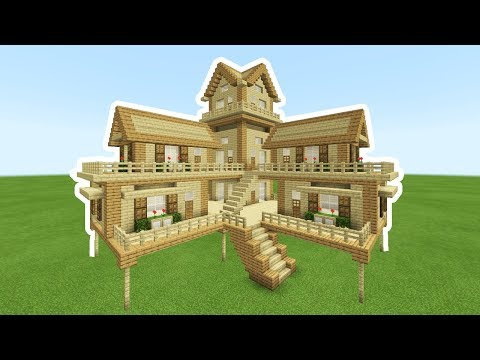 Download Minecraft How To Build Big Wooden House 2 Video 3GP Mp4 FLV