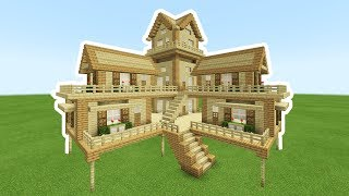 Minecraft Tutorial How To Make A 2 Player Ultimate Wooden Survival House 2019 Minecraftvideos Tv
