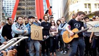 """Justin Sane Anti-Flag """"The Press Corpse"""" at Occupy Wall Street"""