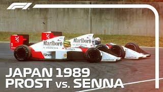 Ayrton Senna And Alain Prosts Championship Deciding Crash | 1989 Japanese Grand Prix