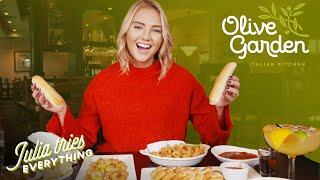 Trying ALL Of The Most Popular Menu Items At Olive Garden