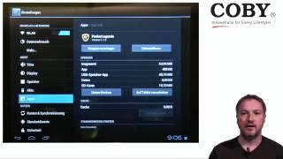 Coby Android ICS 4.0 Einstellungen erklärt