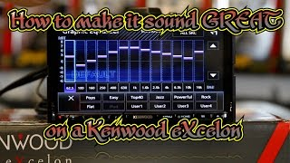 How to use EQ, Xover, and Time Correction on the Kenwood Excelon radios