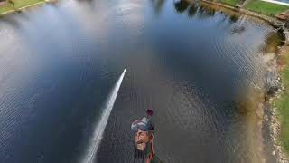Miss Geico RC Boat Chase - Race Drone vs RC Boat