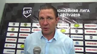 Главный тренер ХК «Кулагер» Олег Гущин об игре с командой «Темиртау»