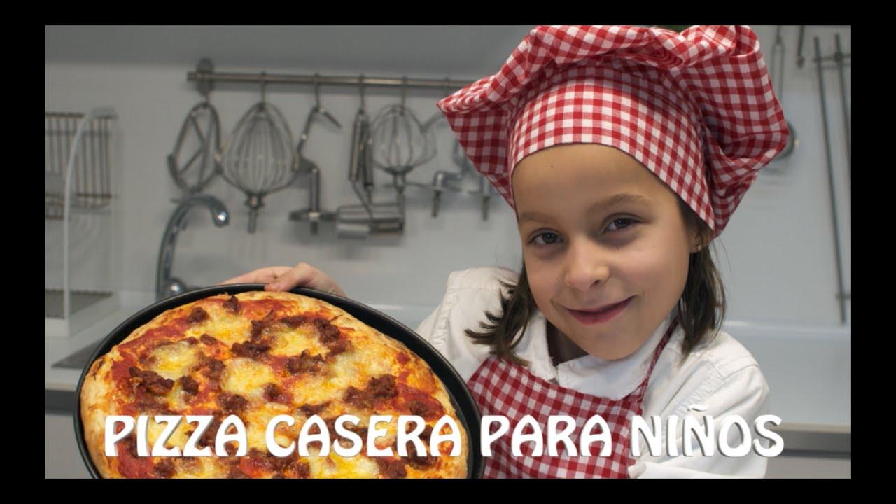Pizza casera - Recetas para hacer con niños | Como hacer pizza casera | Recetas para niños