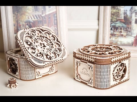UGears Mechanical Model 3-D Wooden Puzzle - Treasure Box