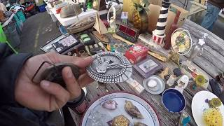 Shopping For Treasures At The Fleamarket Finding Some Antique Toys & Vintage Buttons Items For EBay