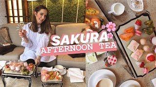 SAKURA AFTERNOON TEA In TOKYO, JAPAN 🌸