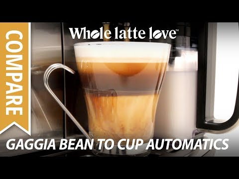 Automatic Coffee, Latte, Espresso from Gaggia Bean to Cup Machines