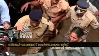 Attack against Mary Sweety's home who tried to enter Sabarimala