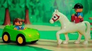 Смотреть видео для детей - Лошадки круче машин. Видео с игрушками про животных.