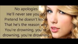 I knew you were trouble - Taylor Swift LYRICS