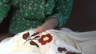 Как убрать канву с вышивки