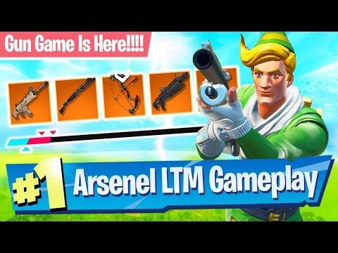 NEW Arsenal Gamemode Gameplay (Gun Game) - Fortnite Battle Royale