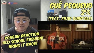 [Italian, Eng SUB][Korean Reaction] Guè Pequeno   2% Ft. Frah Quintale(리액션_외힙_247칠린)