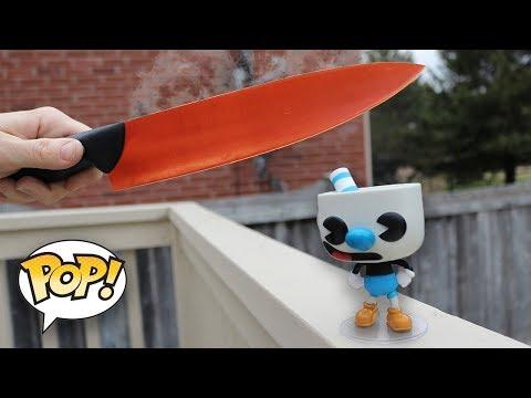 , title : 'Whats Inside A Funko Pop | 1000° Knife VS Funko'