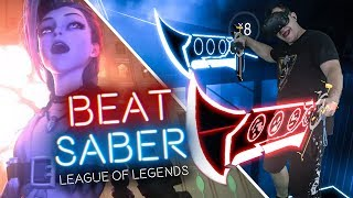 BEATSABER NA VR, GRAM PIOSENKI Z LEAGUE OF LEGENDS | DisStream