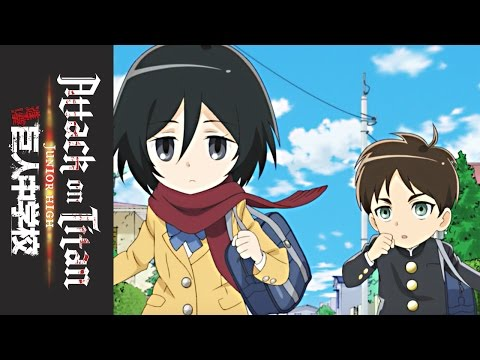 Attack on Titan: Junior High - Official Clip - Late for School!!