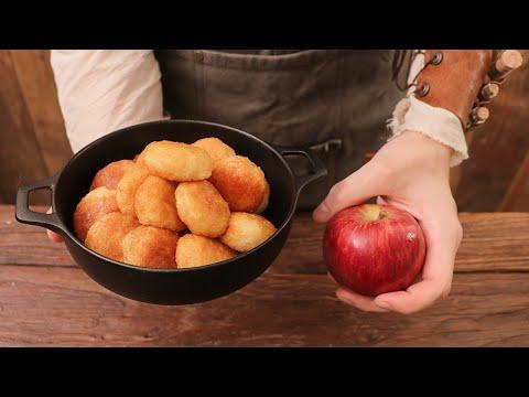RICO做加入蘋果丁的糯米餅