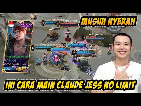 Ini Cara Main Claude Terbaru Jess No Limit Bikin Musuh Pasrah di Late Game | KDA 12/01/06