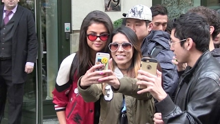 Selena Gomez gives some love and takes selfies with her lucky fans in New York City