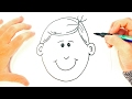 How to draw a Boy for Kids | Boy Face Easy Draw Tutorial