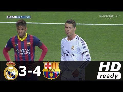 Real Madrid vs Barcelona 3-4 Összefoglaló (Spanyol bajnokság) 23/03/2014 HD letöltés