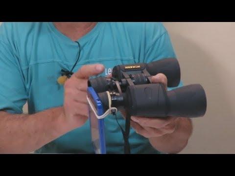 Filmando con un Telefono a Traves de un Binocular / Filming with a Phone through a Binocular