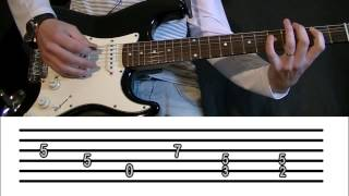 HOW TO PLAY HELLS BELLS TAB GUITAR TUTORIAL (AC/DC). INTRO RIFF. FREE EASY GUITAR LESSON TCDG