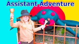 Assistant IndyDiana Jones Goes on a Spooky Treasure Adventure Kids Video