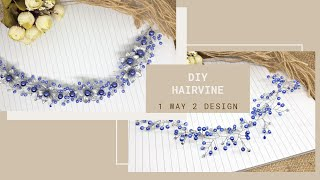 Diy Hairpiece / How To Make Simple Wedding Headpiece 1 Way 2 Design
