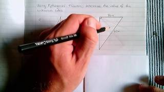 Pythagoras - Example 2 (Unknown 'a' And 'b')