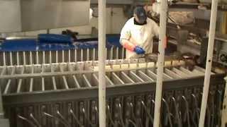 обработка рыбы в море