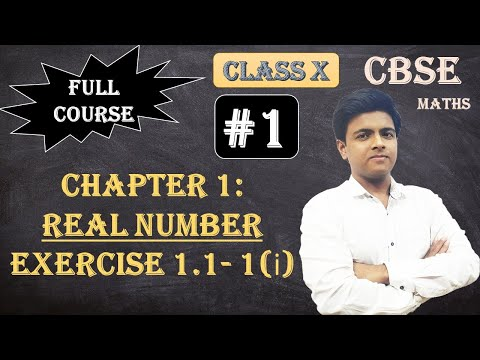 CBSE Full Course | 1 - Real Numbers | Exercise 1.1: 1.Use Euclid's division algorithm to find the HCF of : i.135 and 225