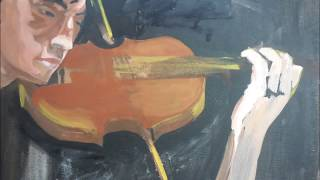 The Making of The Violinist,  acrylic painting