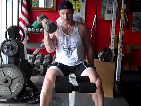 Seated Alternating Dumbbell Biceps Curl