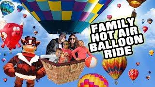 FUNnel V Fam Hot Air Balloon Ride 2k Feet Up High! Scary Balloon Fest W  Skylanders Captain Flynn?