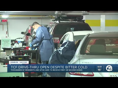 How Detroit is continuing drive-thru vaccinations during frigid temps