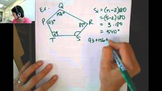 Finding Angle Measures In Polygons