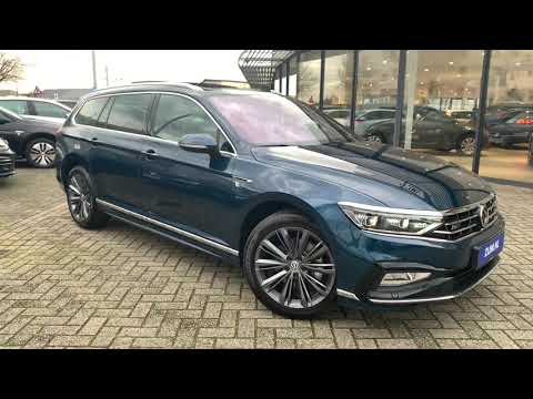 Volkswagen NEW Passat R-Line 2020 in 4K Aquamarin blue 18 inch Liverpool walk around & detail inside