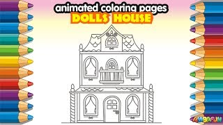 Learn How To Draw Color A Dolls House Coloring Pages Animation Videos For Kid Toddler