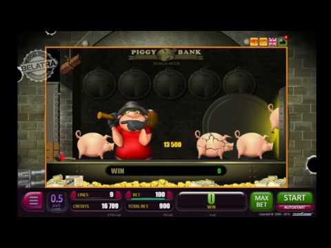 МЕГА ВЫИГРЫШ   Пигги Банк игровой автомат БЕЛАТРА онлайн   PIGGY BANK slot machine online   Big WIN