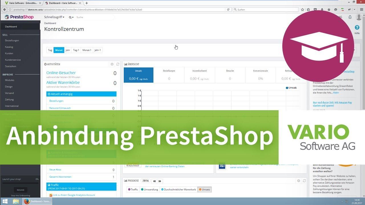 Anbindung eines PrestaShop-Onlineshops