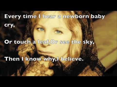 I Believe / You'll Never Walk Alone Lyrics – Barbra Streisand