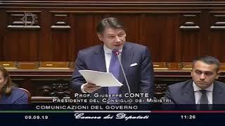 Conte bis: il discorso per la fiducia del presidente del Consiglio