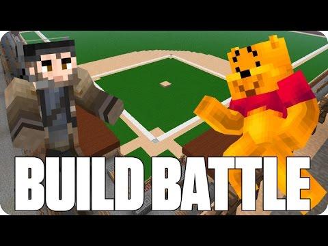 ¡PARTIDO DE BASEBALL! BUILD BATTLE   Minecraft con Luh