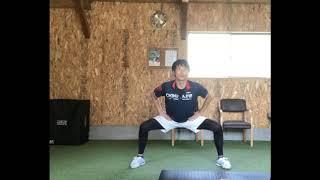 バッティングのための股関節の可動域を広げるトレーニング